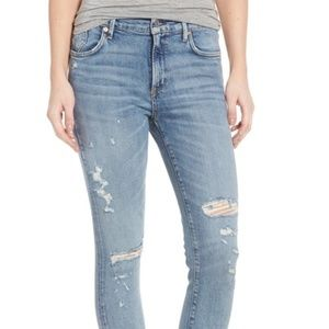 AGOLDE Sophie Distressed High Waist Skinny Jeans
